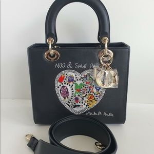 Dior lady Dior medium black gold niki de Saint